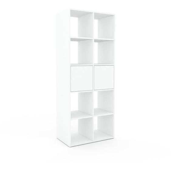 Regalsystem Weiß - Flexibles Regalsystem: Türen in Weiß - Hochwertige Materialien - 79 x 195 x 47 cm, Komplett anpassbar