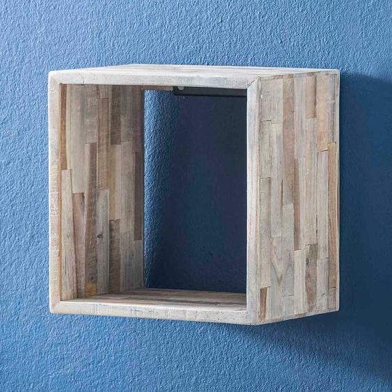 Regalwürfel aus Teak Massivholz Landhaus Design