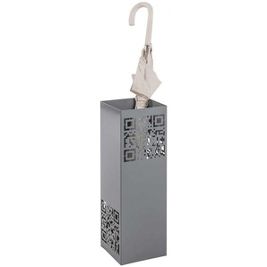Regenschirmständer in Grau Metall