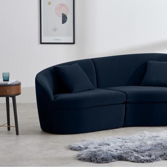 Reisa 3-Sitzer Sofa, Samt in Tintenblau