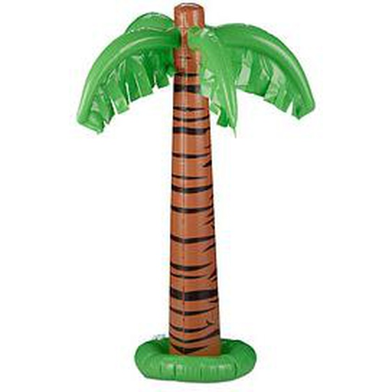 relaxdays aufblasbare Palme braun, grün