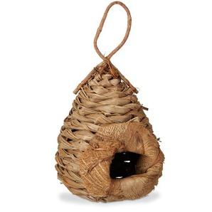 Relaxdays Deko Vogelhaus aus Kokosblättern