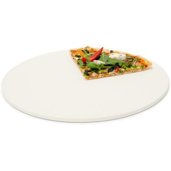 Relaxdays Pizzastein rund aus Cordierit