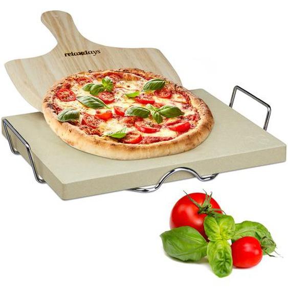 Relaxdays Pizzastein Set 3 cm