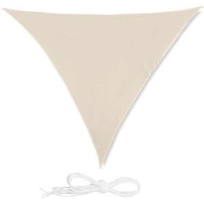 Relaxdays Sonnensegel Dreieck beige