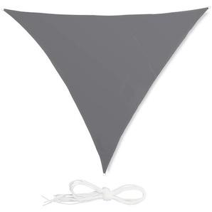 Relaxdays Sonnensegel Dreieck grau