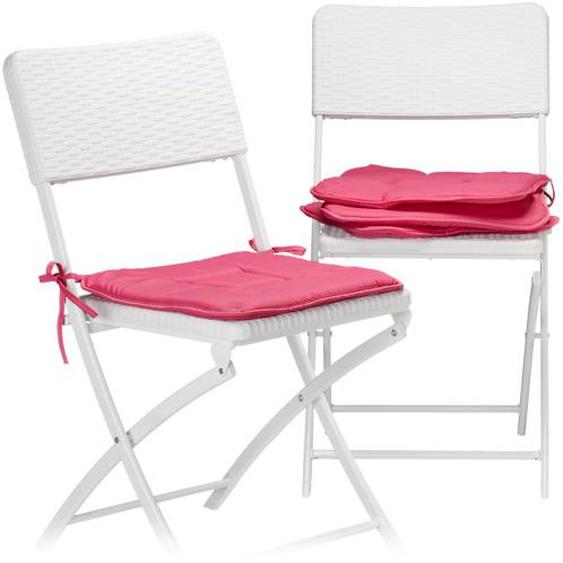 Relaxdays Stuhlkissen 4er Set