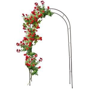 Relaxdays Torbogen Garten für Rosen 240 cm