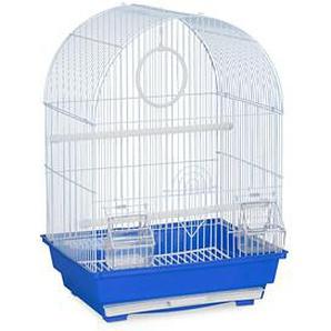 relaxdays Vogelkäfig mit Zubehör   blau 34,5 x 31,0 x 49,5 cm