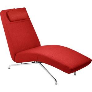 KEBE Relaxliege , rot, 65cm, verstellbar, »Cosmo«, ,