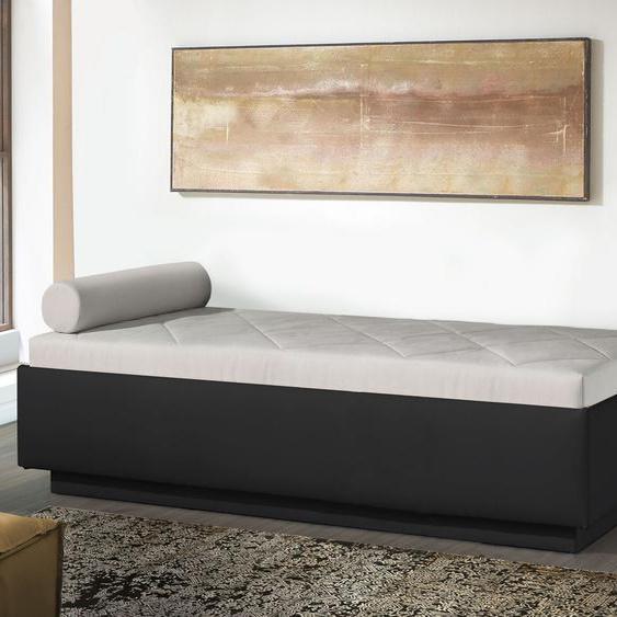 Relaxliege Eriko Komfort, sandfarben, 90x200 cm, mit Lattenrost - mit Kaltschaum-Matratze, H2