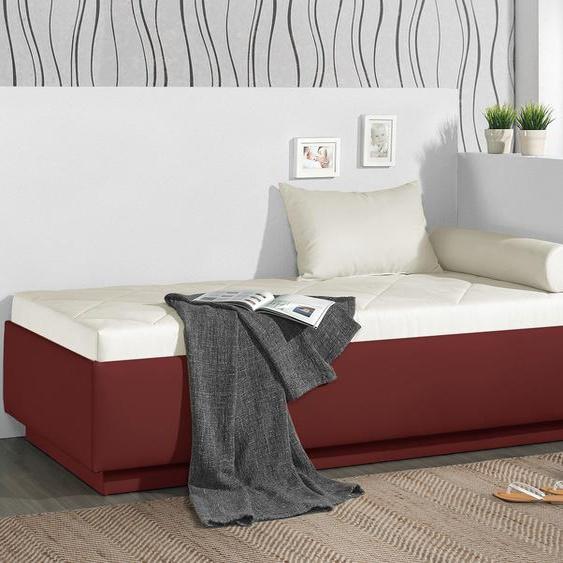 Relaxliege Eriko, schwarz, 90x200 cm, mit Lattenrost - mit Kaltschaum-Matratze, H2