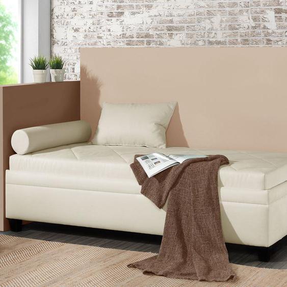 Relaxliege Kamina, grau, 90x200 cm, ohne Lattenrost - ohne Matratze