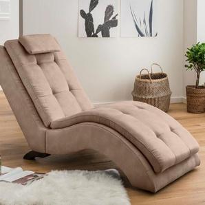 Home affaire Relaxliege »Vengo«, beige, 70cm, FSC-Zertifikat, ,