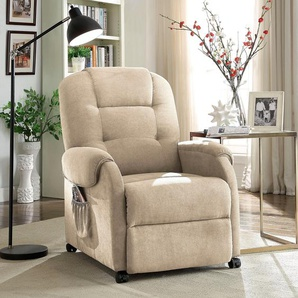 Relaxsessel, mit Federkern, beige, ATLANTIC home collection, mit Relaxfunktion