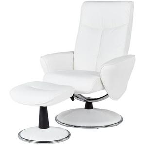 Relaxsessel  weiß - Kunstleder Abby ¦ weiß ¦ Maße (cm): B: 82 H: 104,5 T: 110 Polstermöbel  Sessel  Fernsehsessel » Höffner