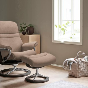 Relaxsessel, beige, Material Chrom »Sunrise«, Stressless®, mit Relaxfunktion