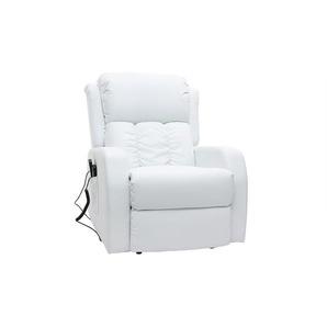 Relaxsessel elektrisch mit Massagefunktion GALLER Weiß