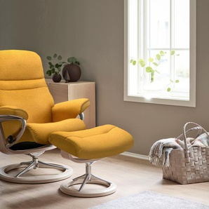 Relaxsessel, gelb, Material Chrom »Sunrise«, Stressless®, mit Relaxfunktion