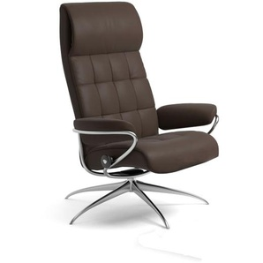 Relaxsessel London High Back (M) in Batick brown mit Star Gestell