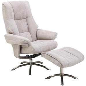 Relaxsessel mit Hocker | beige | 78 cm | 114 cm | 86 cm |