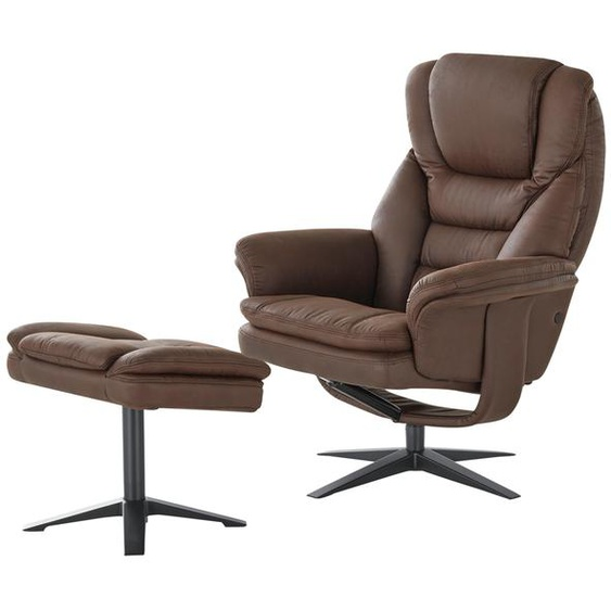 uno Relaxsessel mit Hocker  Henry ¦ braun ¦ Maße (cm): B: 84,5 H: 106 T: 122,5
