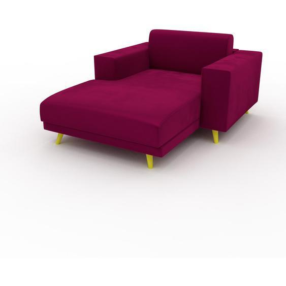 Relaxsessel Samt Magentapink - Eleganter Relaxsessel: Hochwertige Qualität, einzigartiges Design - 128 x 75 x 162 cm, Individuell konfigurierbar