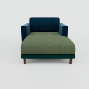 Relaxsessel Samt Petrolblau - Eleganter Relaxsessel: Hochwertige Qualität, einzigartiges Design - 104 x 75 x 162 cm, Individuell konfigurierbar