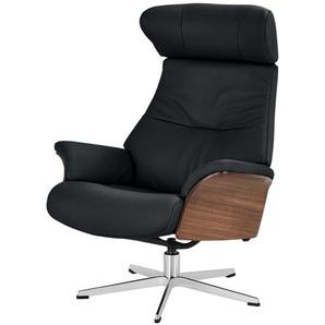 Relaxsessel - schwarz - 80 cm - 106 cm - 78 cm   Möbel Kraft