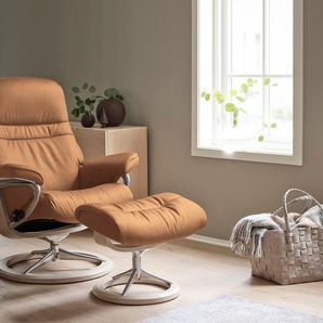 Relaxsessel »Sunrise«, beige, Material Chrom, Stressless®, mit Relaxfunktion