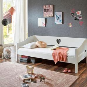 Relita Einzelbett Elsa 90 x 200 MDF weiß lackiert