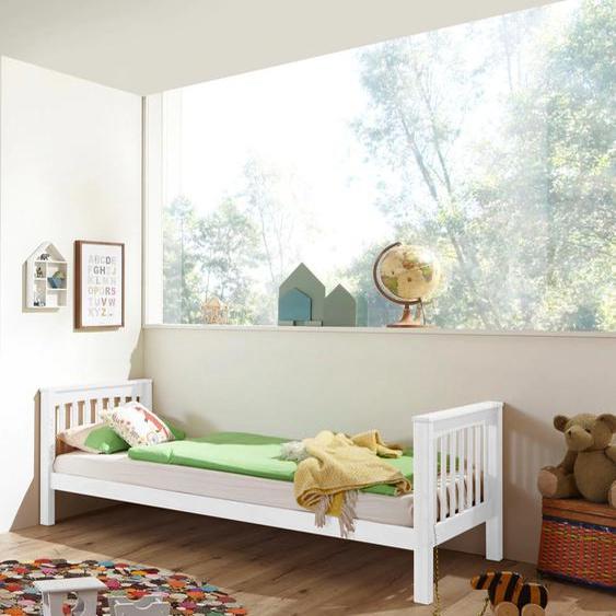 Relita Einzelbett Kick 90x200 cm Höhe Bettseite: 8 cm, ohne Matratze weiß Kinder Jugendbetten Jugendmöbel Kindermöbel Betten