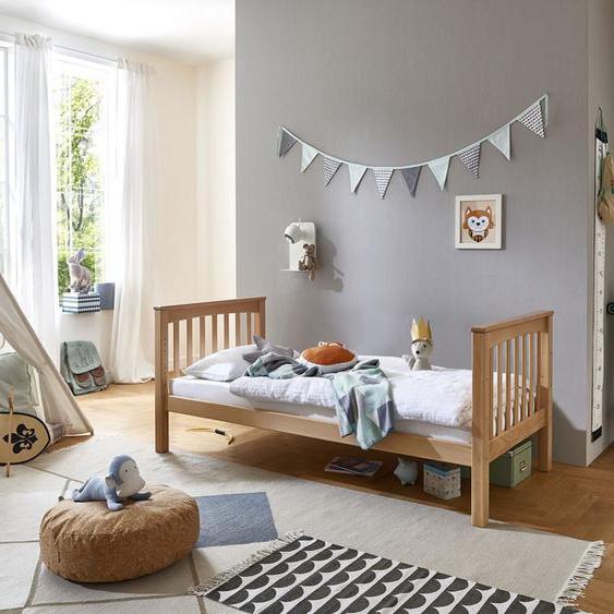 Relita Einzelbett Kick 90x200 cm Höhe Bettseite: 8 cm, ohne Matratze beige Kinder Jugendbetten Jugendmöbel Kindermöbel Betten