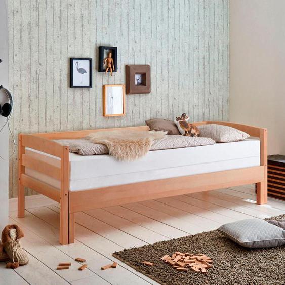 Relita Funktionsbett 90x200 cm braun Kinder Jugendbetten Jugendmöbel Kindermöbel Daybetten