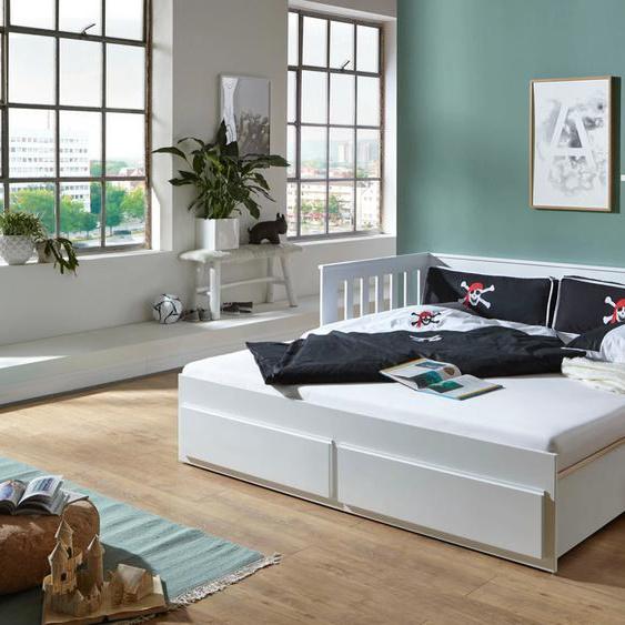Relita Funktionsbett Kick 90x200 cm weiß Kinder Jugendbetten Jugendmöbel Kindermöbel Daybetten