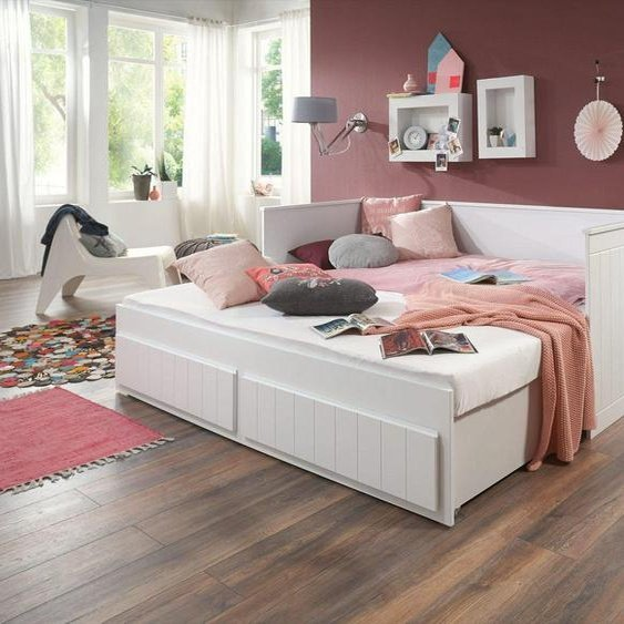 Relita Funktionsbett, mit Lattenrost, Schubkästen und Auszug auf 180x200 cm