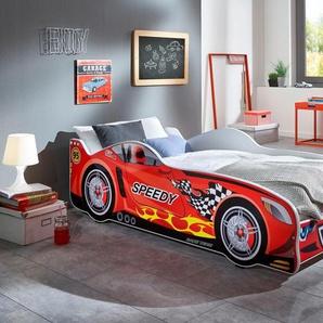 Relita Rennwagen-Bett, rot, Liegefläche 80/160 cm, Liegefläche 80/160 cm