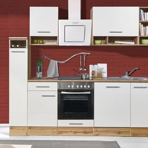 respekta-Economy-Küchenblock - weiß - Holz -