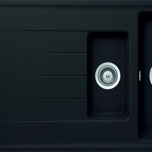 RESPEKTA Einbauspüle COLUMBIA1.5B Einheitsgröße schwarz Küchenspülen Küche Ordnung