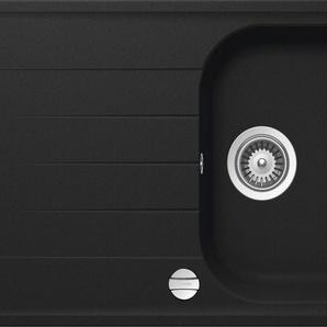 RESPEKTA Einbauspüle ORLANDO100X50G Einheitsgröße schwarz Küchenspülen Küche Ordnung