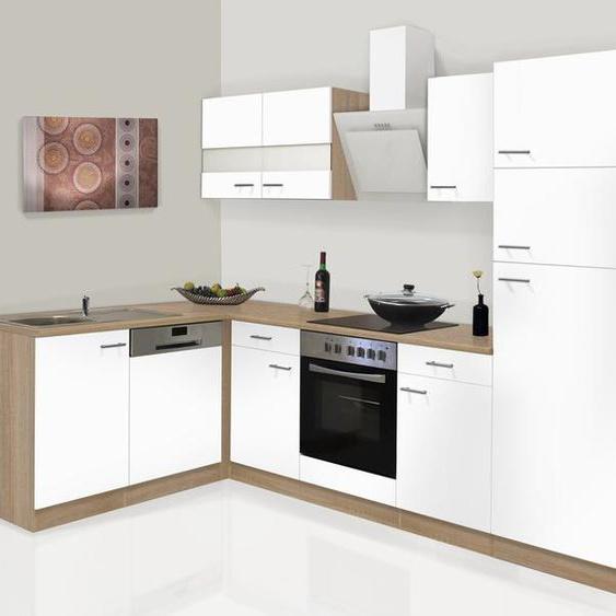 respekta Küchenzeile, B 280 cm, mit Winkelschrank, mit Elektrogeräten