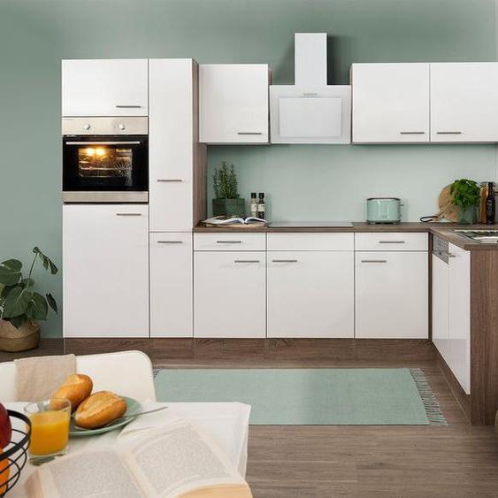 respekta Küchenzeile, B 310 cm, mit  Winkelschrank, mit Elektrogeräten, Eiche York Dekor