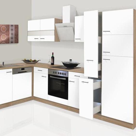 respekta Küchenzeile, B 310 cm, mit Winkelschrank, mit Elektrogeräten