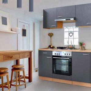 RESPEKTA Küchenzeile »Basic«, mit Edelstahl-Kochmulde, Breite 210 cm
