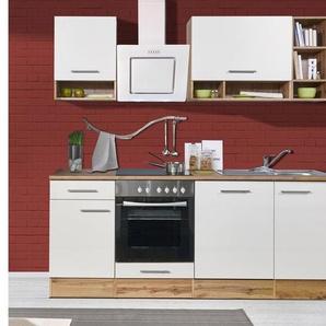 respekta Küchenzeile, inklusive Elektrogeräten, im Wildeiche-Look