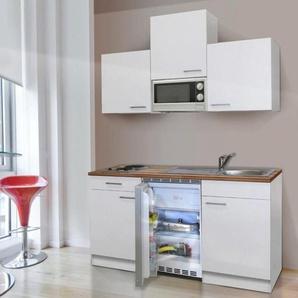 RESPEKTA Küchenzeile »KB150WWMIC«, mit E-Geräten, Gesamtbreite 150 cm