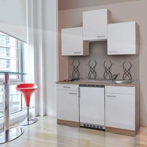 Küchenzeile, mit E-Geräten, Breite 150 cm