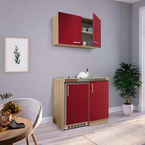 RESPEKTA Küchenzeile, mit Glaskeramikkochfeld und Kühlschrank, Breite 100 cm