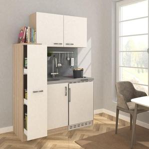 RESPEKTA Küchenzeile MK130ESWOSC, mit E-Geräten, Gesamtbreite 130 cm F (A bis G) B: weiß Küchenzeilen Geräten -blöcke Küchenmöbel