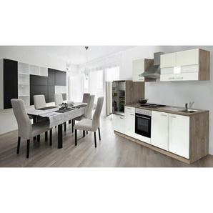 Küchenzeile, ohne E-Geräte, Gesamtbreite 280 cm